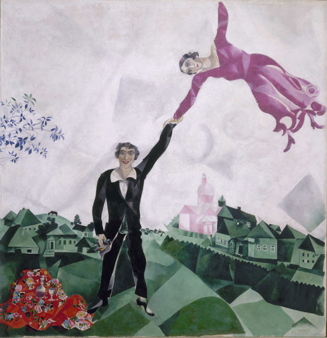 Marc Chagall. Promenade, 1917-18. Oil on canvas, 175.2 x 168.4 cm. State Russian Museum, St. Petersburg. Photograph: © 2016, State Russian Museum, St. Petersburg. © DACS 2016.