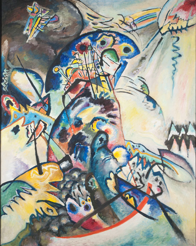 Wassily Kandinsky. Blue Crest, 1917. Oil on canvas, 133 x 104 cm. State Russian Museum, St. Petersburg. Photograph: © 2016, State Russian Museum, St. Petersburg.