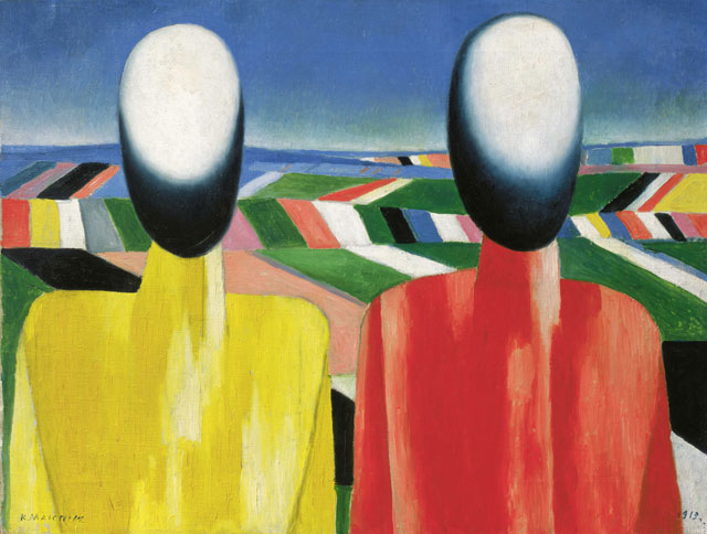Kazimir Malevich. Peasants, c1930. Oil on canvas, 53 x 70 cm. State Russian Museum, St. Petersburg. Photograph: © 2016, State Russian Museum, St. Petersburg.
