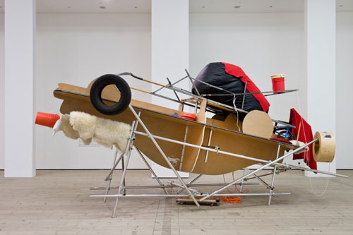 Jason Rhoades. Fucking Picabia Cars / Picabia Car with Ejection Seat, 1997/2000. Installation view at BALTIC. Photograph: Colin Davison.