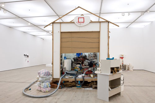 Jason Rhoades. Garage Renovation New York (Cherry Makita), 1993. Installation view at BALTIC. Photograph: Colin Davison.