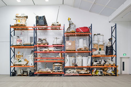 Jason Rhoades. Iwan's Rack, 2003/4. Installation view at BALTIC. Photograph: Colin Davison.