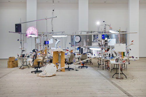 Jason Rhoades. The Grand Machine/THEAREOLA, 2002. Installation view at BALTIC. Photograph: Colin Davison.