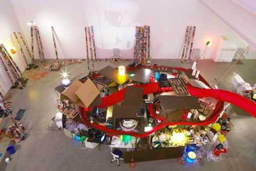 Jason Rhoades. The Creation Myth, 1998. Installation view (3). Galerie Hauser & Wirth, Zurich.