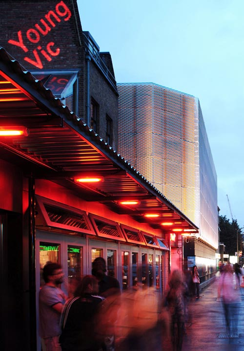Haworth Tompkins. Young Vic Theatre, London. Photograph © Philip Vile.