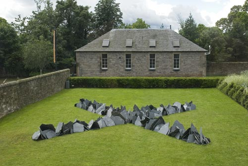 Richard Long. <em>Cornish Slate Cross</em>, 2007. Slate © The Artist.