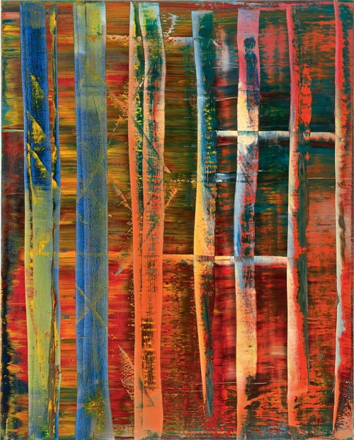 Gerhard Richter.<em> Abstraktes Bild (Abstract Painting), </em>1992. Oil on canvas, 200 x 160 cm, signed and dated on reverse. Museum Frieder Burda, Baden-Baden &copy; Gerhard Richter. Photo: Museum Frieder Burda, Baden-Baden