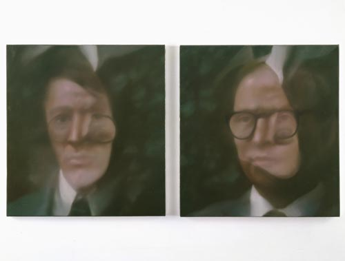 Gerhard Richter. <em>Gilbert, George (381-1, 381-2)</em>, 1975. Oil on canvas, each: 65.00 x 60.00 cm, diptych. &copy; Gerhard Richter. ARTIST ROOMS National Galleries of Scotland and Tate acquired jointly through The d'Offay Donation with assistance from the National Heritage Memorial Fund and The Art Fund 2008