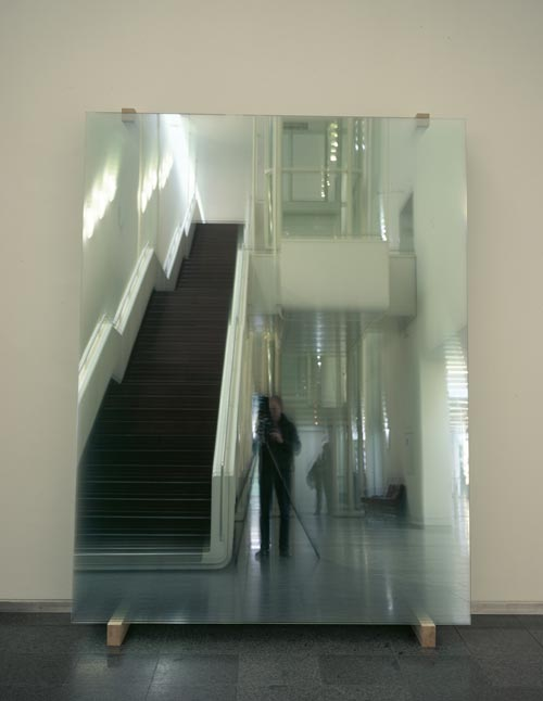 Gerhard Richter.<em> 11 Schieben (886-5), </em>2004. Glass, 290 x 212 x 54 cm &copy; Gerhard Richter. ARTIST ROOMS National Galleries of Scotland and Tate acquired jointly through The d'Offay Donation with assistance from the National Heritage Memorial Fund and The Art Fund 2008