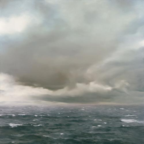 Gerhard Richter. <em>Seest&uuml;ck (bew&ouml;lkt)</em> [<em>Seascape (Cloudy)</em>], 1969. Oil on canvas, 200 x 200 cm. Hamburger Kunsthalle, Collection B&ouml;ckmann &copy; Gerhard Richter. Photo: Museum Frieder Burda, Baden-Baden
