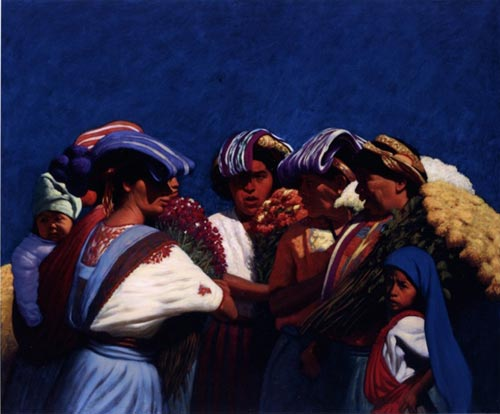 Elias Rivera.<em> Open Circle</em> 2005, oil on canvas, 50 x 60 in.