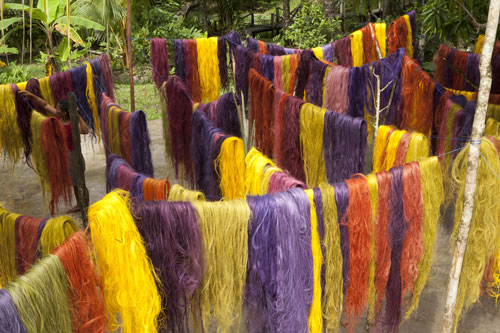 Susana Mejia (b1978). Tinted fique fibres drying in the Amazon, from Color Amazonia, 2006-2013. Courtesy of the artist.