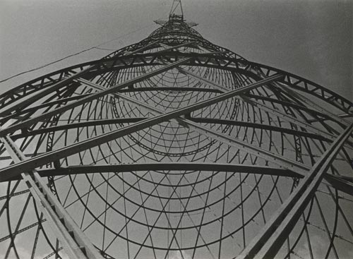Alexander Rodchenko. <em>Shukhov Tower,</em> 1929. Artist print. Private collection &copy; DACS 2008/Rodchenko archives