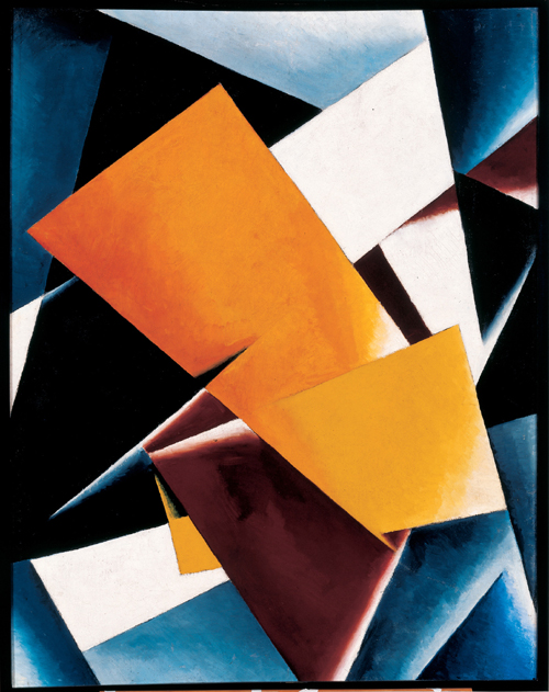 Lyubov Popova. <em>Painterly Architectonic</em> 1918. Oil on canvas, 590 x 390 mm. Slobodskoye Museum and Exhibition Center