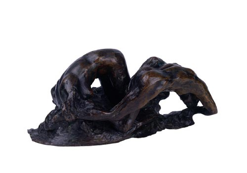 Auguste Rodin. <em>La Poet et la Sirene (La Vague)</em>. Bronze 12.5 x 25 x 13 cm City Council, Glasgow, No. 7.9. Photo © Glasgow City Council (Museums).