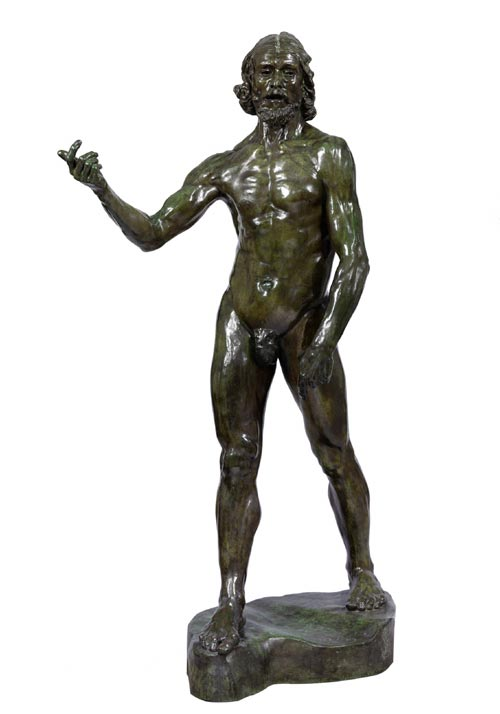 Auguste Rodin. <em>St John the Baptist</em>, 1879. Bronze 200 x 120 x 56 cm Victoria and Albert Museum, London, 601-1092. Photo © V&A Images/V&A Museum.