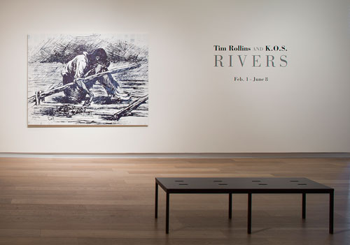 Tim Rollins and KOS. Exhibition view (2): RIVERS, part of deFINE Art 2014. SCAD Museum of Art. Photograph: John McKinnon. Courtesy of SCAD.