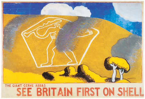 <p>Frank Dobson. <em>The Giant, Cerne Abbas</em>, 1931. The Giant Cerne Abbas, See Britain First on Shell. © Frank Dobson.