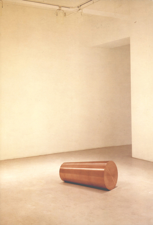Roni Horn. Things That Happen Again: For Two Rooms, 1986. Copper, 29.2 x 88.9 cm. Courtesy Hauser and Wirth, Zurich and London.