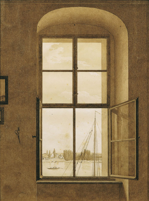 Caspar David Friedrich. <em>View from the Artist's Studio, Window on the Right</em>. C1805-06