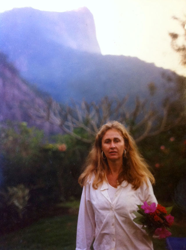 Megan Rooney's mother, Moira, in her Rio garden.