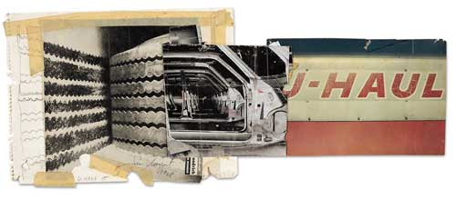 Collage for<i> U-Haul-It; U-Haul-It, One Way Anywhere; and For Bandini</i>, 