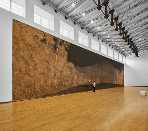 Clifford Ross. Tall Gallery (Sopris Wall I). MASS MoCA.
