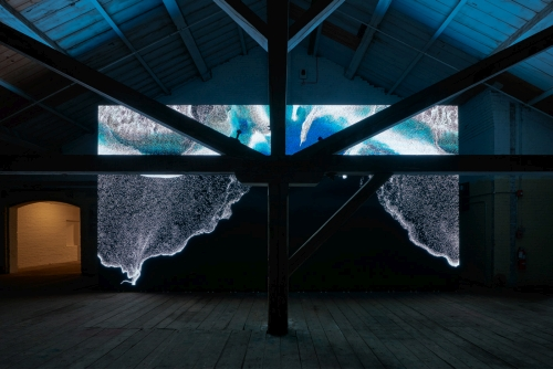 Clifford Ross. Digital Waves, Wave Cathedral. MASS MoCA.