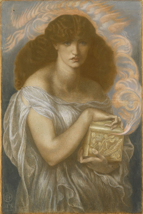 Dante Gabriel Rossetti. Pandora, 1878. Coloured chalks, 100.8 x 66.7 cm. © National Museums Liverpool.