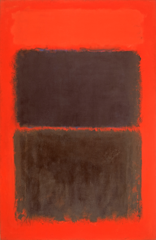 Mark Rothko. <em>Light Red Over Black,</em> 1957. Oil on canvas, 230.6 x 152.7 cm.