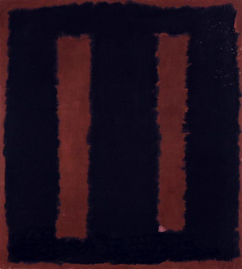 Mark Rothko. <em>Black on Maroon, Sketch for &quot;Mural No.6&quot;, </em>1958. Mixed media on canvas, 266.7 x 381.2 cm. Tate. Presented by the artist through the American Federation of Arts 1968 &copy; 1998 by Kate Rothko Prizel and Christopher Rothko