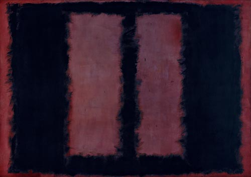 "Mark Rothko. <em>Black on Maroon, Sketch for ""Mural No.6"", </em>1958. Mixed media on canvas, 266.7 x 381.2 cm. Tate. Presented by the artist through the American Federation of Arts 1968 © 1998 by Kate Rothko Prizel and Christopher Rothko"