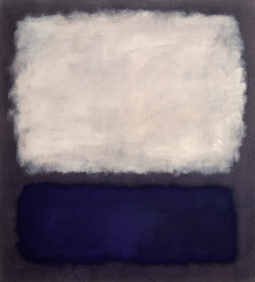 Mark Rothko. <em>Blue and Grey</em>, 1962. Oil on canvas, 2013 x 1753 mm. Fondation Beyeler, Riehen/Basel © 1998 Kate Rothko Prizel and Christopher Rothko/VG Bild-Kunst, Bonn 2008