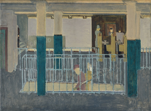 Mark Rothko. <em>Entrance to Subway (Subway Station/Subway Scene),</em> 1938. Oil on canvas, 864 x 1175 mm. Collection Christopher Rothko © 1998 Kate Rothko Prizel and Christopher Rothko/VG Bild-Kunst, Bonn 2008