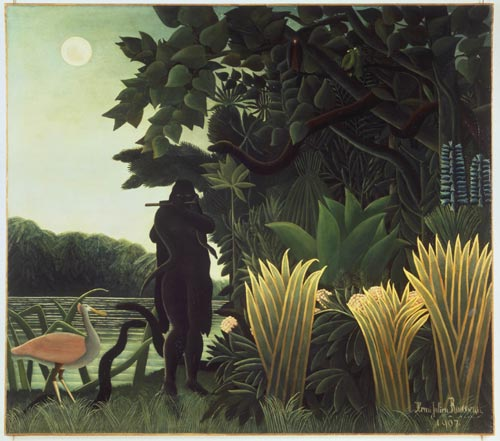 Henri Rousseau <em>The Snake Charmer</em> 1907. Oil on canvas 169 x 189 cm. Mus&eacute;e d'Orsay, Paris.