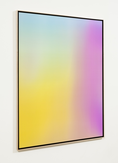 Rafaël Rozendaal. Into Time 14 04 06, 2014. Lenticular Painting, 47 x 63 in. Courtesy of the artist.