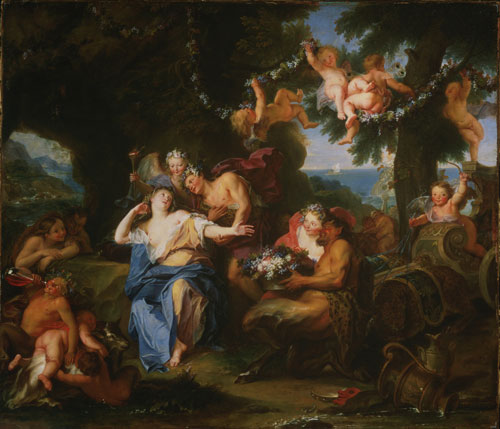 Antoine Coypel. Bacchus and Ariadne on the Isle of Naxos, c1693. Oil on canvas, 73 x 85.5 cm. Philadelphia Museum of Art.