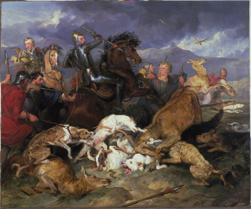 Edwin Landseer. The Hunting of Chevy Chase, 1825-26. Oil on canvas, 143.5 x 170.8 cm. Museums and Art Gallery, Birmingham Photograph © Birmingham Museums Trust.