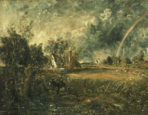 John Constable. Cottage at East Bergholt, c1833. Oil on canvas, 87.5 x 112 cm. Lady Lever Art Gallery, Liverpool. Photograph © National Museums Liverpool, Lady Lever Art Gallery.