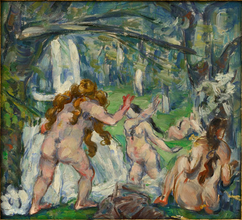 Paul Cézanne. Trois baigneuses c1875. Oil on canvas. Collection particulière. Photograph: Ali Elai, Camerarts.