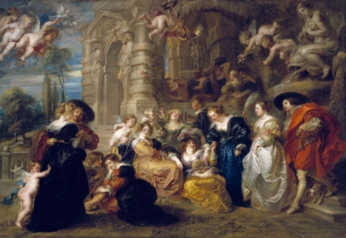 Peter Paul Rubens. Le Jardin de l'amour c1635. Oil on canvas. Madrid, Museo Nacional del Prado Photo © Madrid, Museo Nacional del Prado.
