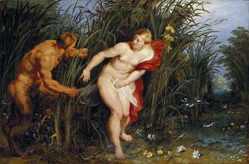 Peter Paul Rubens. Pan and Syrinx, 1617. Oil on panel, 40 x 61 cm. Staatliche Museen, Kassel. Photograph. Ute Brunzel.