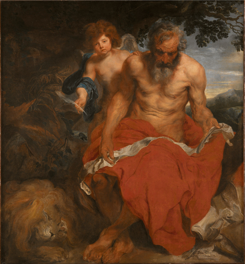 Anthony van Dyck. <em>St Jerome.</em> Oil on canvas. 167 x 154 cm. Nationalmuseum, Stockholm. Photo:<strong> </strong>© Nationalmuseum.