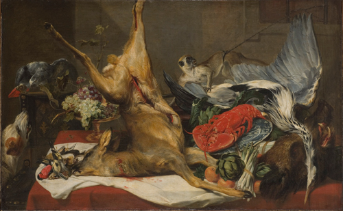 Frans Snyders (1579–1657).        <em>Still life of Dead Game,</em> 1630–1650. Oil on canvas,  111 x 180 cm. 
