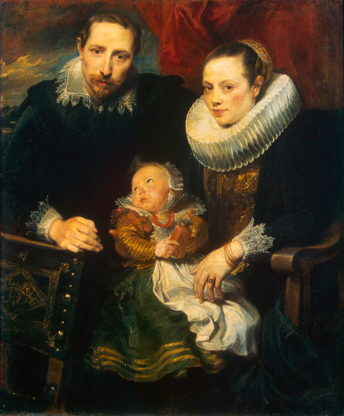 Anthony van Dyck (1599-1641). <em>Portrait of a Family,</em> c.1619. Oil on canvas,  113.5 x 93.5 cm. 
