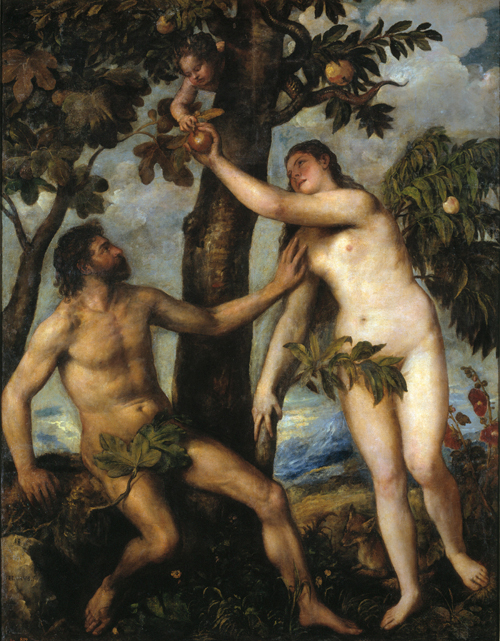 Titian (1488–1576).<em> Adam and Eve.</em> 1550.