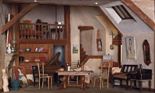 Early twentieth-century Montmartre artist's studio, Miniature room. Tel Aviv Museum of Art, Israel