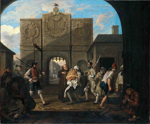 William Hogarth. <em>O the Roast Beef of Old England ('The Gate of Calais')</em>, 1748. Tate.