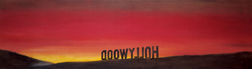 Ed Ruscha.<em> The Back of Hollywood</em> 1977. Oil on canvas, 22 x 80 inches. Courtesy Collection Mus&eacute;e d&rsquo;art contemporain de Lyon &copy; Ed Ruscha, 2009. Photography: Paul Ruscha.