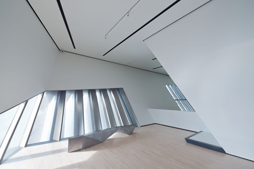 The Eli and Edythe Broad Art Museum at Michigan State University, designed by Zaha Hadid. Interior view (2).